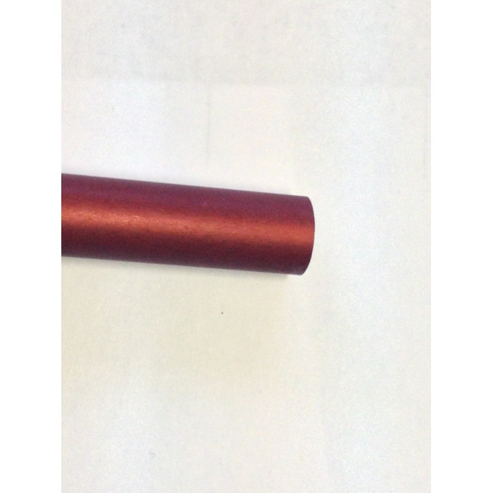 tubo alluminio UNI 7075 T9 colore rosso D 11 SP.0,6
