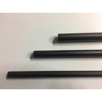 tube in high modulus carbon D12 -1m